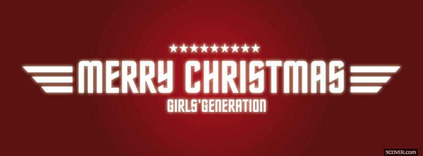Photo girls generation merry christmas Facebook Cover for Free