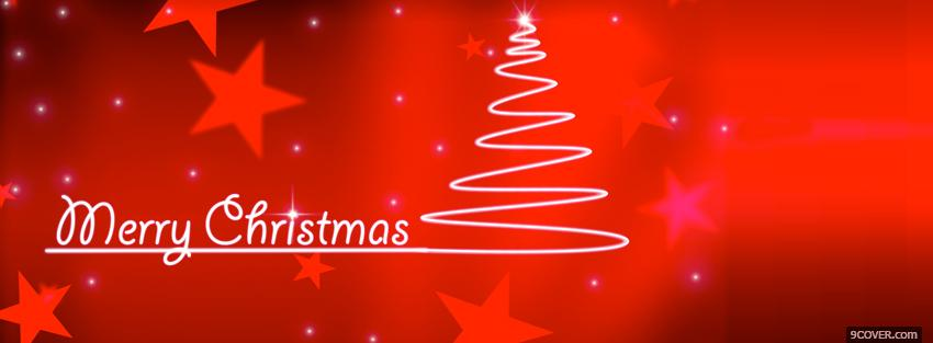 Photo stars and christmas tree Facebook Cover for Free
