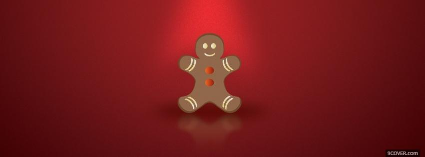 Photo christmas gingerbread cookie Facebook Cover for Free