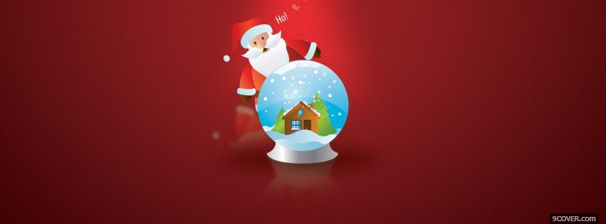 Photo santa claus and snow globe Facebook Cover for Free