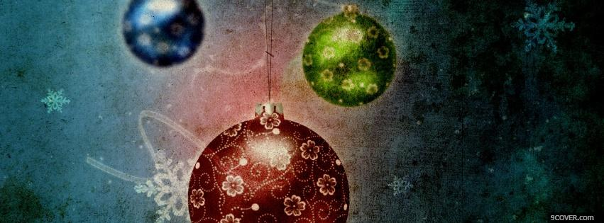 Photo wonderful christmas embellishments Facebook Cover for Free