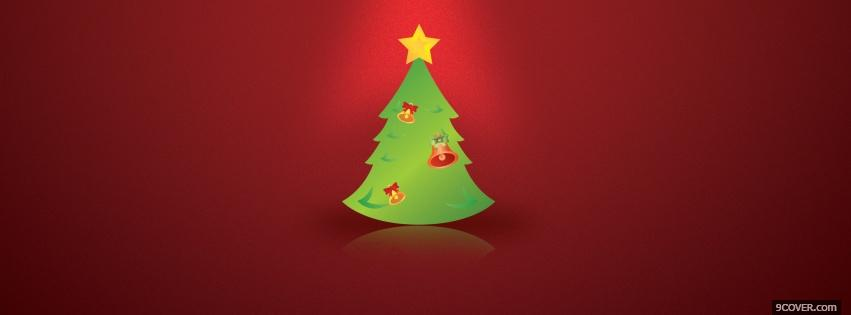 Photo christmas tree with star Facebook Cover for Free