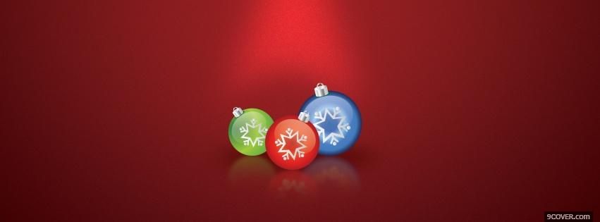 Photo colorful christmas ornaments Facebook Cover for Free