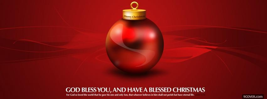 Photo delightful red christmas bauble Facebook Cover for Free