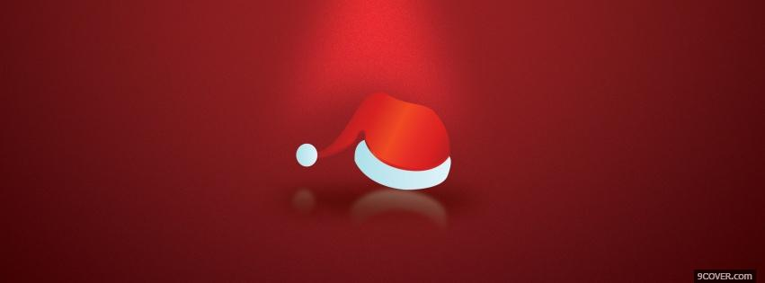 Photo festive christmas hat Facebook Cover for Free