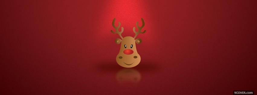 Photo rudolph the red nose reindeer Facebook Cover for Free