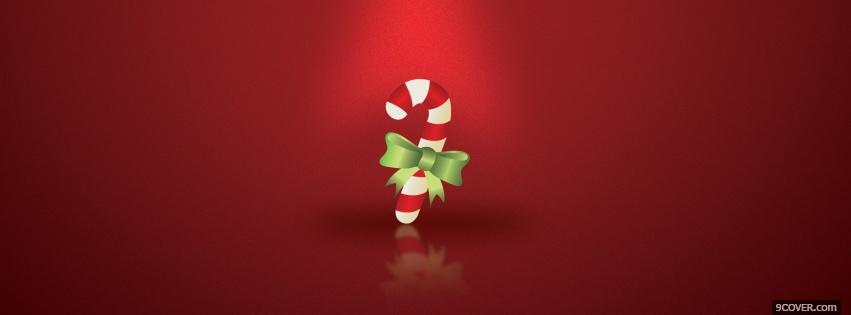 Photo candy cane christmas Facebook Cover for Free