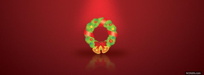 Photo festive christmas wreath Facebook Cover for Free