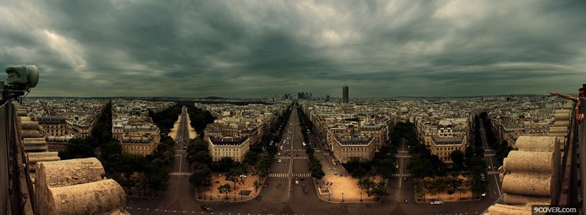 Photo city taroro in paris Facebook Cover for Free
