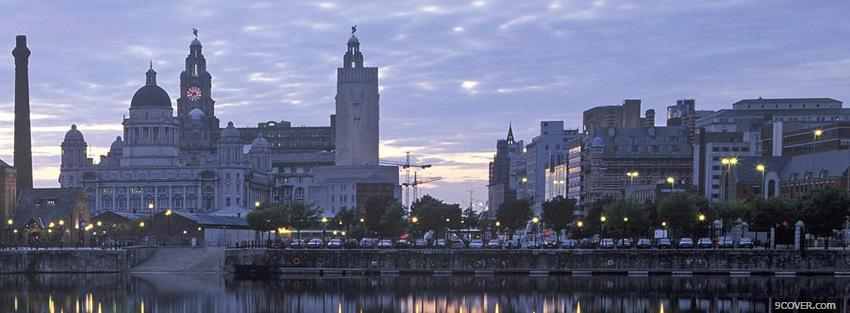 Photo city attractions in liverpool facebook cover for free