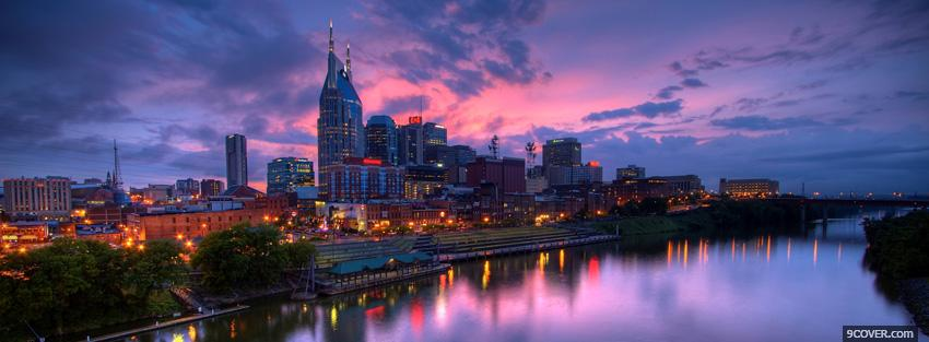 Beautiful Sky In The City Photo Facebook Cover