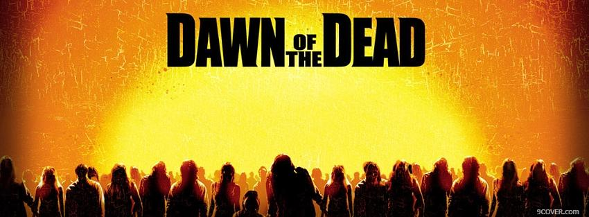 Photo dawn of the dead zombies walking Facebook Cover for Free