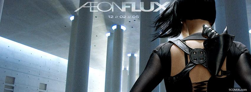 Photo movie aeon flux back of charlize theron Facebook Cover for Free