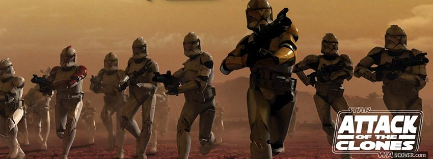 Photo star wars attack of the clones Facebook Cover for Free
