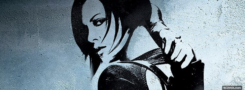 Photo black and white on the wall aeon flux Facebook Cover for Free