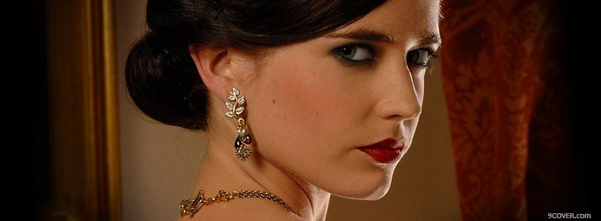 Photo movie actress eva green Facebook Cover for Free