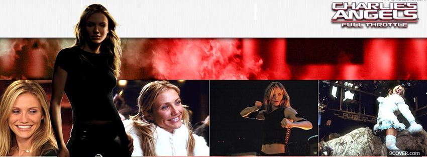 Photo cameron diaz in charlies angels Facebook Cover for Free