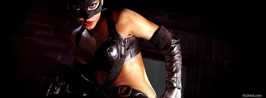 Halle Berry As Catwoman Movie Photo Facebook Cover