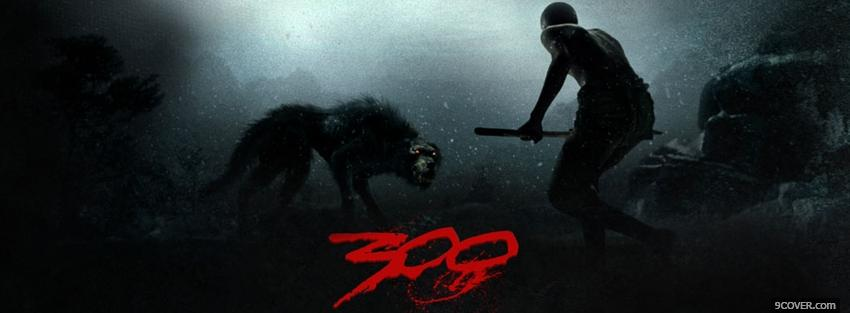 Photo movie 300 danger in the dark Facebook Cover for Free