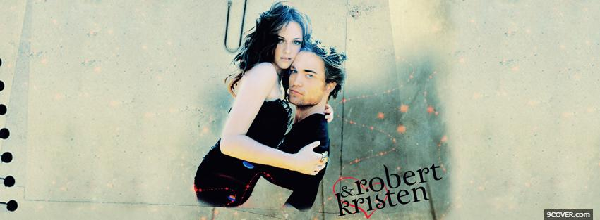 Photo movie actors robert and kristen Facebook Cover for Free