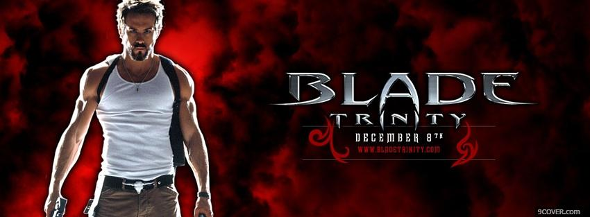 Photo movie blade trinity man standing Facebook Cover for Free