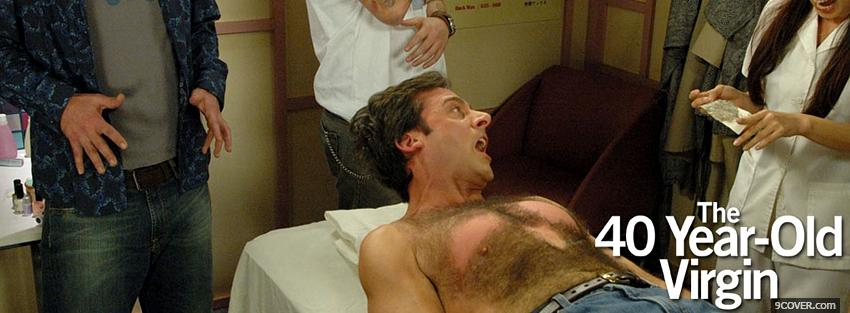 Photo the 40 year old virgin waxing Facebook Cover for Free