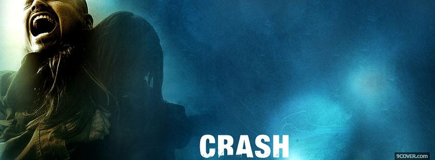 Photo movie crash man screaming Facebook Cover for Free