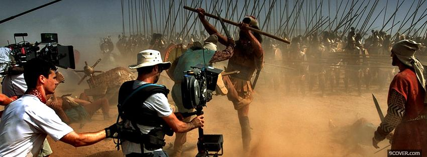 Photo behind the scenes of alexander movie Facebook Cover for Free