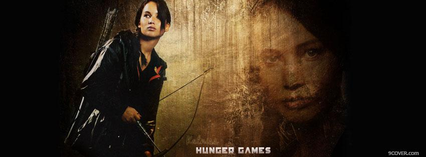 Photo movie katniss the hunger games Facebook Cover for Free