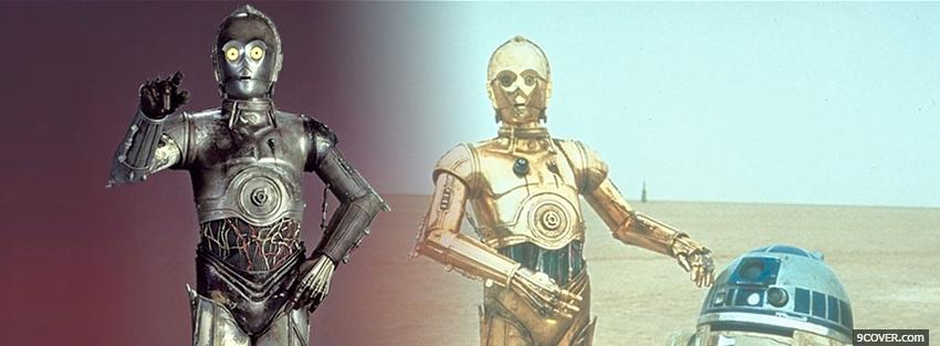 Photo star wars robot silver and gold Facebook Cover for Free