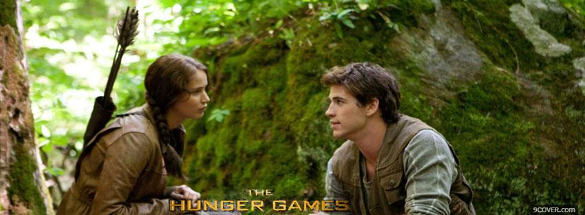 Photo the hunger games katniss and gale Facebook Cover for Free