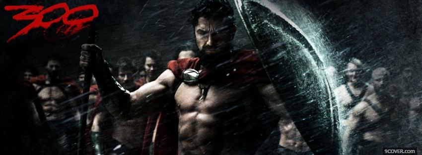 Photo movie 300 men fighting Facebook Cover for Free