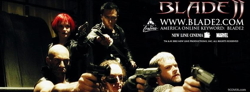 Photo movie blade 2 people with guns Facebook Cover for Free