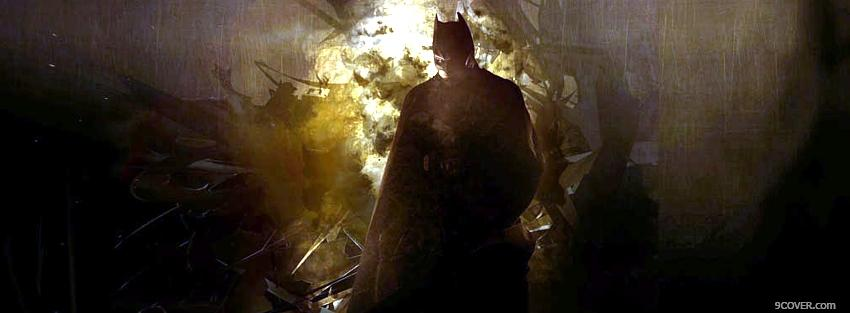 Photo great movie batman begins Facebook Cover for Free