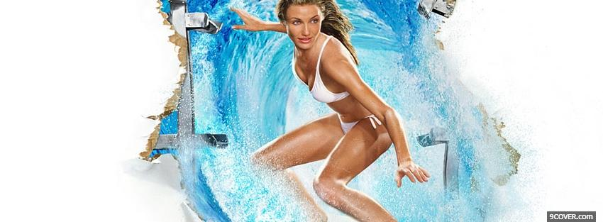 Photo movie cameron diaz surfing Facebook Cover for Free