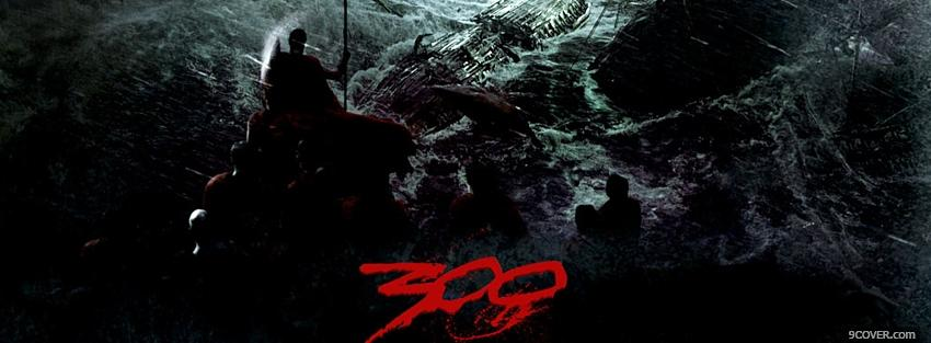 Photo movie 300 warriors in the water Facebook Cover for Free