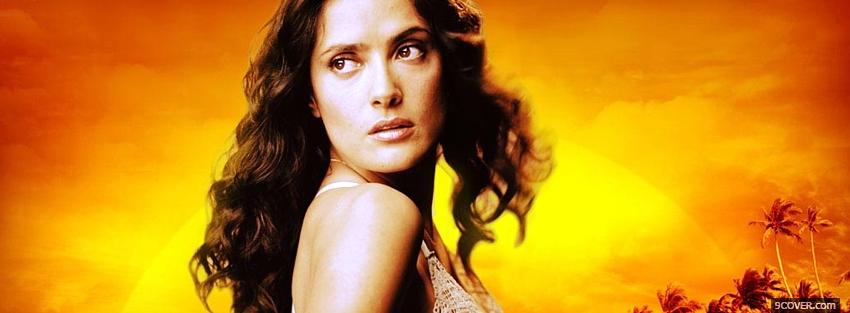 Photo movie after the sunset salma hayek Facebook Cover for Free
