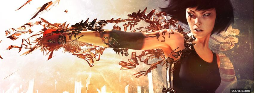 Photo movie mirrors edge faith Facebook Cover for Free