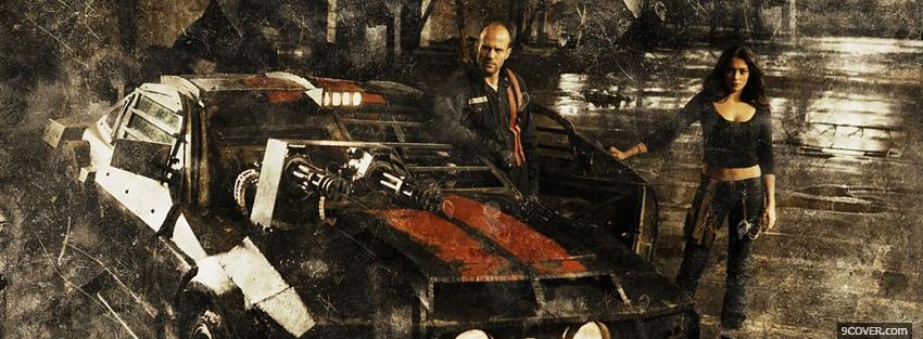 Photo death race car movie Facebook Cover for Free