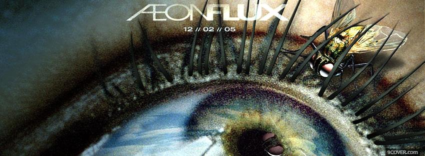 Photo movie aeonflux eye and insect Facebook Cover for Free