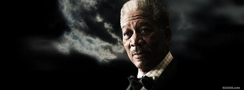 Photo movie actor morgan freeman Facebook Cover for Free