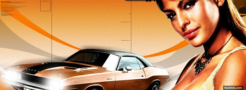 Photo 2 fast 2 furious eva mendes movie Facebook Cover for Free