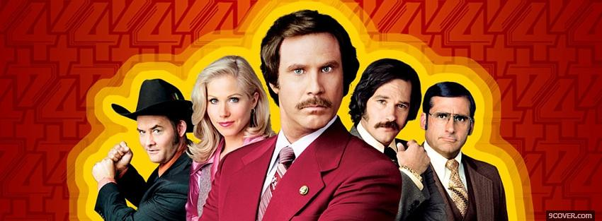 Photo movie anchorman 2 Facebook Cover for Free