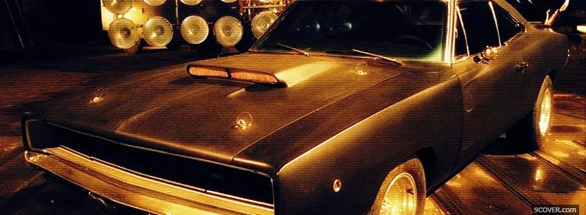 Photo movie car in blade 2 Facebook Cover for Free
