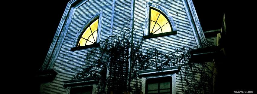 Photo movie amityville horror 2 Facebook Cover for Free