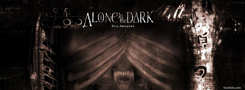 Photo movie scary alone in the dark Facebook Cover for Free