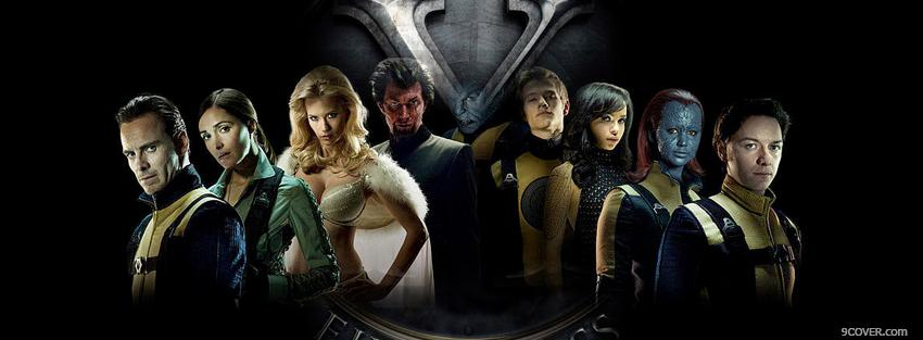 Photo x men first class movie Facebook Cover for Free