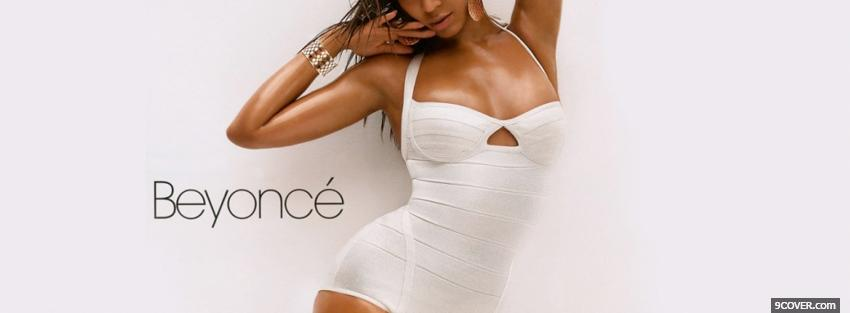 Photo beyonce and white swimsuit Facebook Cover for Free