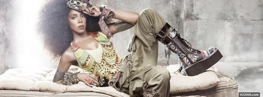 Photo kelly rowland army look music Facebook Cover for Free