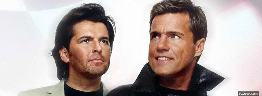 Photo modern talking looking away Facebook Cover for Free